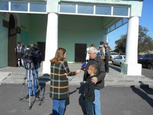 Телевидение Области взяло интервью у родных
