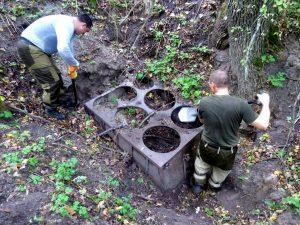 В Шолоховском районе в ходе Вахты Памяти обнаружили неизвестную кухню времен ВОВ