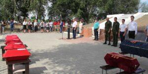 В станице Обливской перезахоронили останки 15 красноармейцев