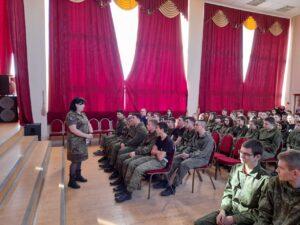 4 марта 2021 года в актовом зале Сальского казачьего кадетского профессионального лицея прошли Уроки Памяти
